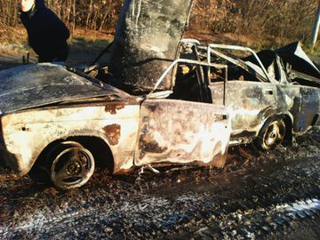В Ялуторовске взорвалась машина - 21 октября 2015 года